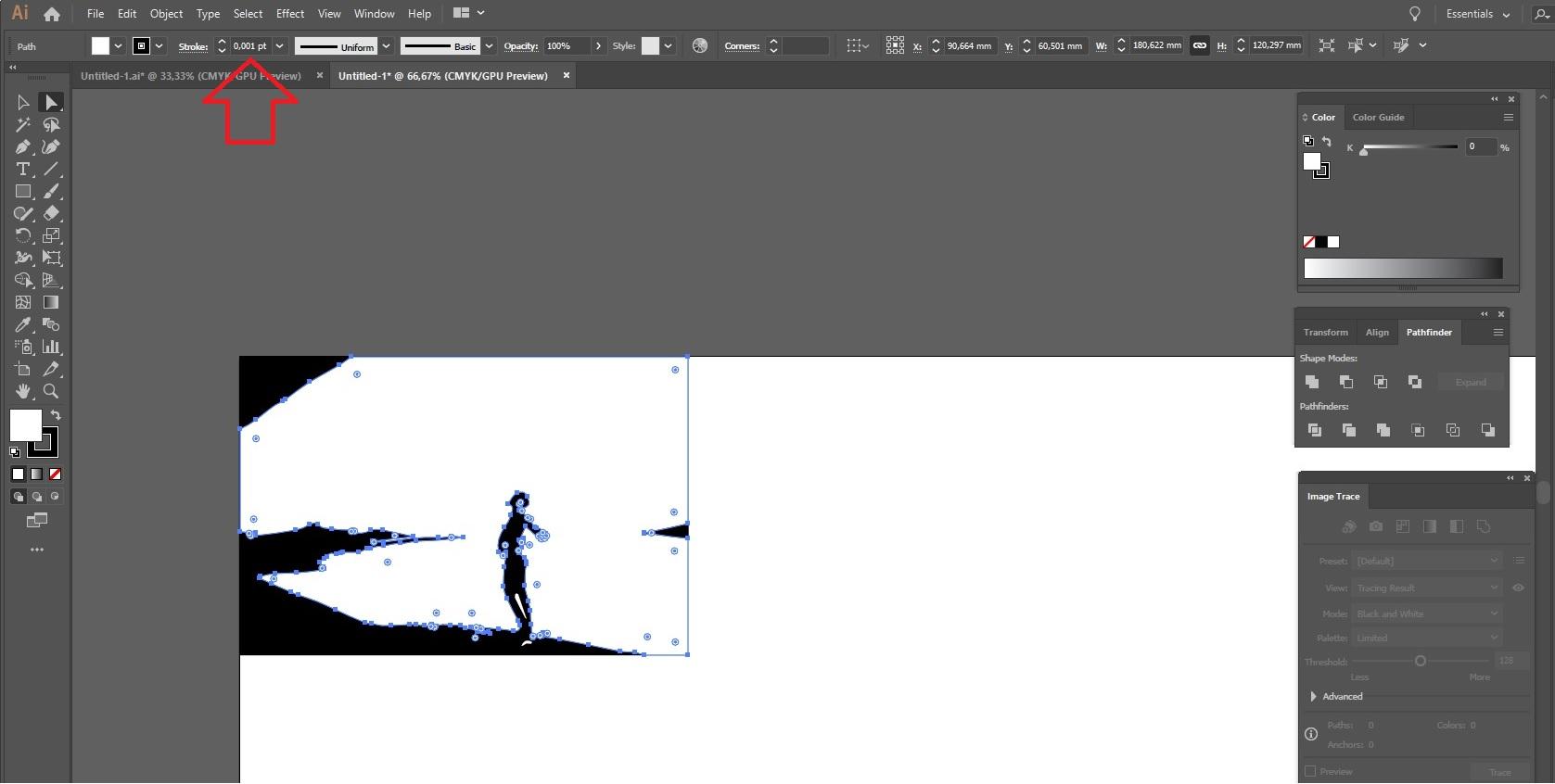 Adobe Illustrator: leikkaus