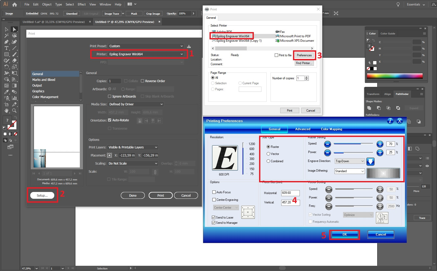 Adobe Illustrator: tulostus