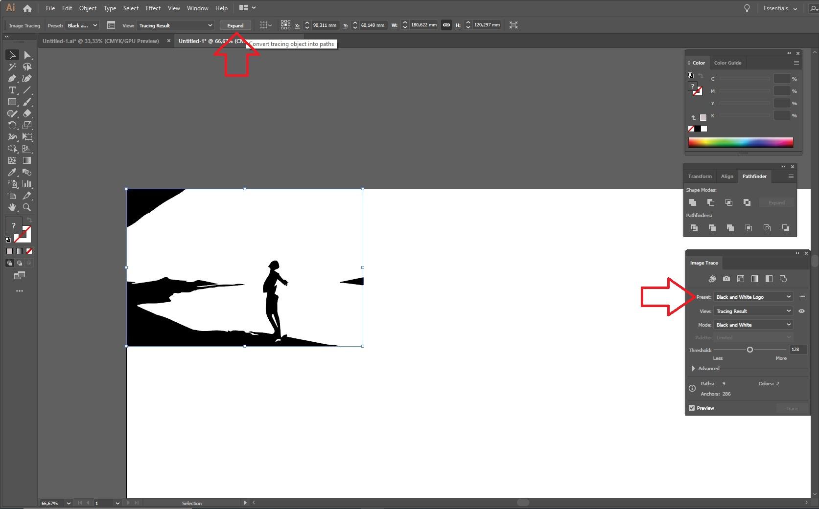Adobe Illustrator: kuva vektoriksi