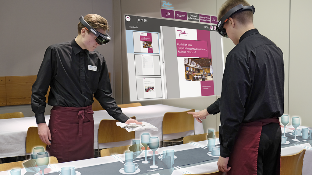 Softability Studio created virtual learning environment with Hololens for Perho Culinary, Tourism & Business College
