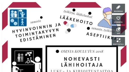 Nohevasti lähihoitaja – materiaalia kielitietoiseen oppimiseen