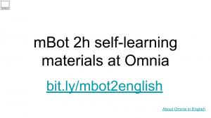 Linkki mBot koulutusmateriaalin englanniksi